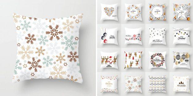 Новогодние подарки с AliExpress дешевле 100 рублей: Наволочка для подушки