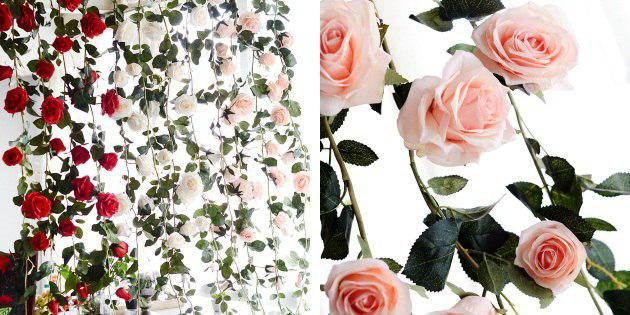 новогодние гирлянды: цветочная гирлянда