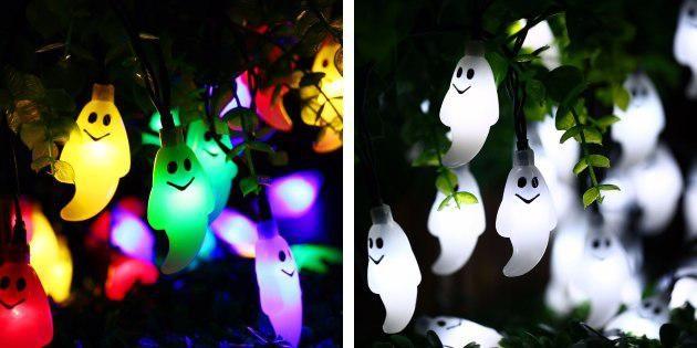 новогодние гирлянды: гирлянда с привидениями