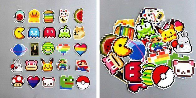 Пиксельные наклейки