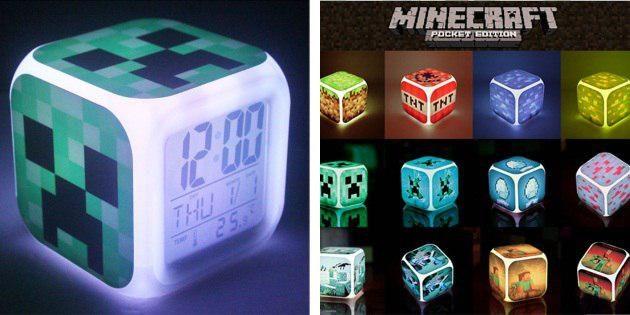 Будильник в стиле Minecraft