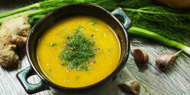 Гороховый суп с ароматными специями