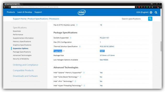 Нормальная температура процессора Intel Core i3-7100