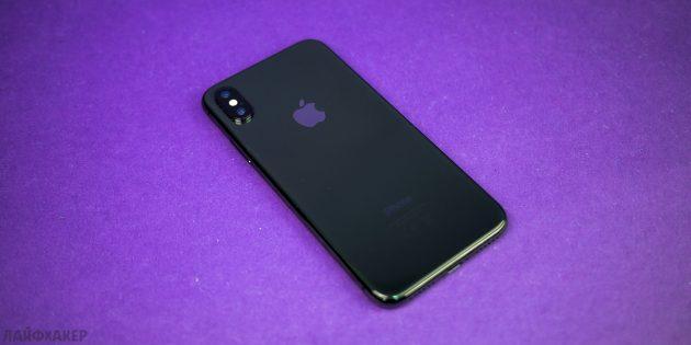 iPhone X: тыльная сторона