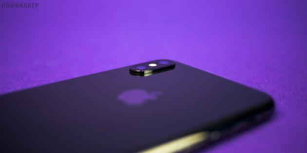 iPhone X: задняя сторона