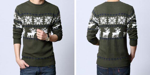 Подарки любимому на Новый год: Свитер с оленями