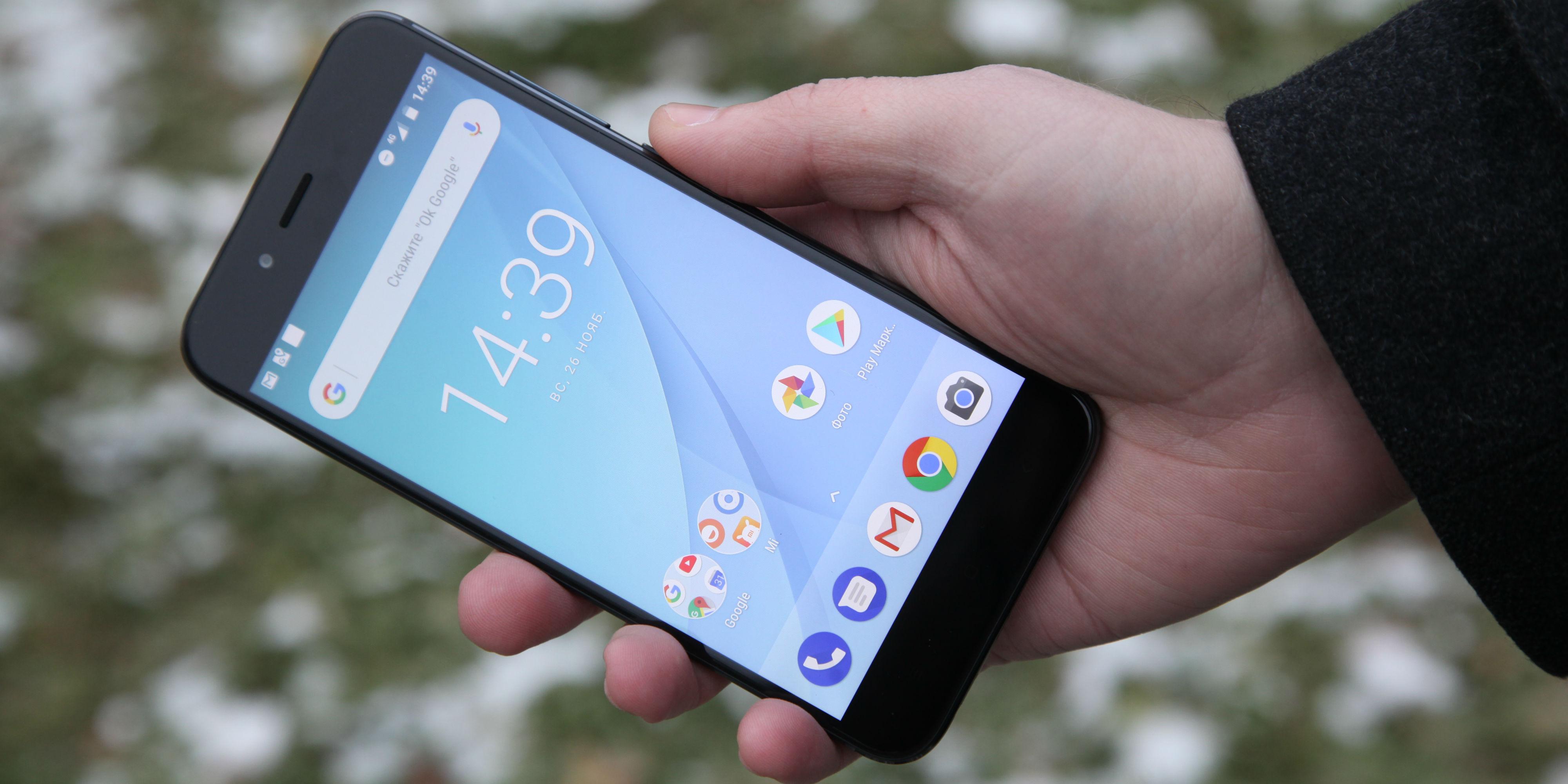 52d2b2a965125 ... оказался матовый Xiaomi Mi A1 чёрного цвета. Это очень приятный  аппарат, который радует глаз. Тонкий, металлический, с чуть скруглёнными  краями смартфон ...
