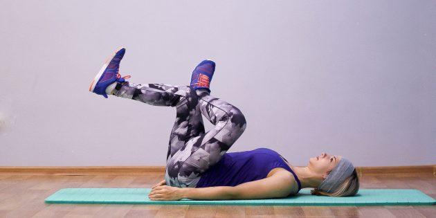 Простые упражнения йоги: поза игольного ушка