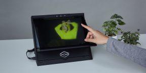 Как создать голограмму одним пальцем