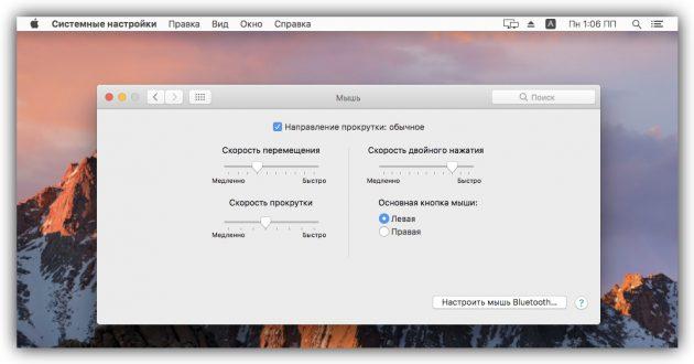 Как настроить мышь в macOS