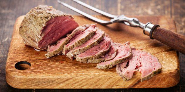 Вкусное мясо в духовке: Говядина в пиве с чесночным маслом