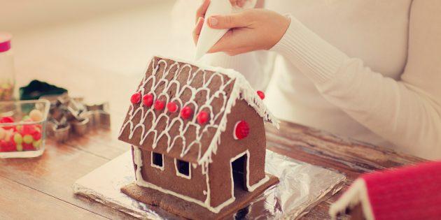 Как сделать новогодний пряничный домик