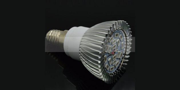 Светодиодная лампа для стимуляции роста растений