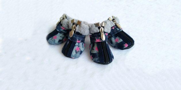 Зимняя джинсовая обувь