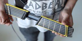 Портативная гитара для тех, кто не может ни минуты прожить без музыки