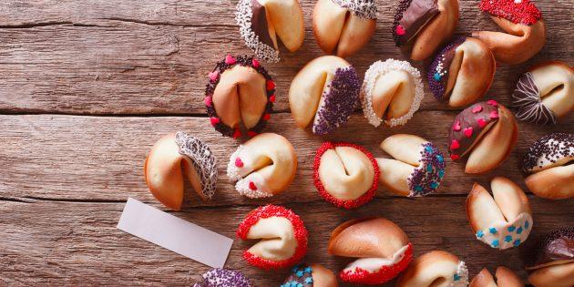 Как сделать печенье с предсказаниями