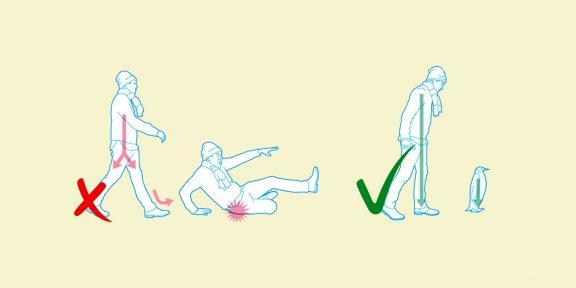 Как ходить по улицам в гололёд и остаться в живых: подробная инструкция