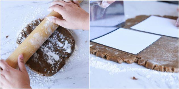 Как раскатать тесто для пряничного домика