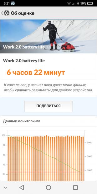 PCMark батарея