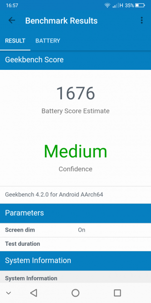 Geekbench battery