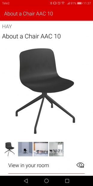 Roomle: примеры мебели
