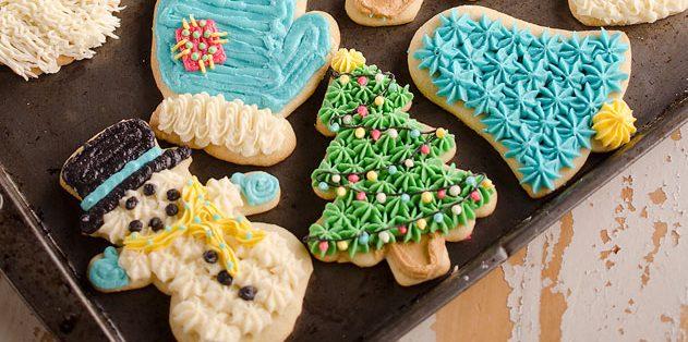 Новогоднее печенье со сметаной