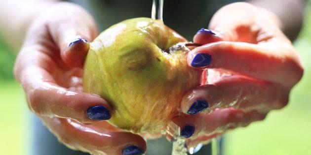как мыть яблоки
