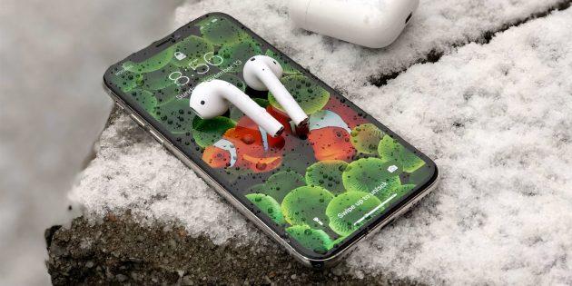 айфон выключается на холоде
