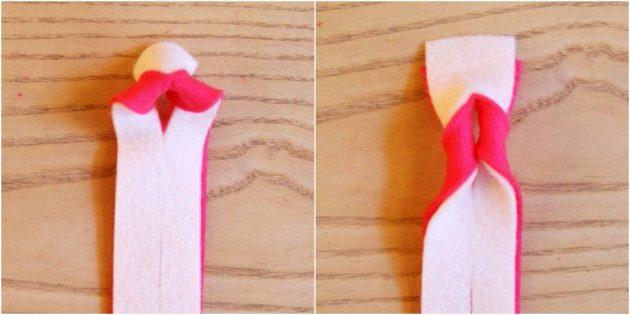 Как сделать новогоднюю гирлянду из фетра
