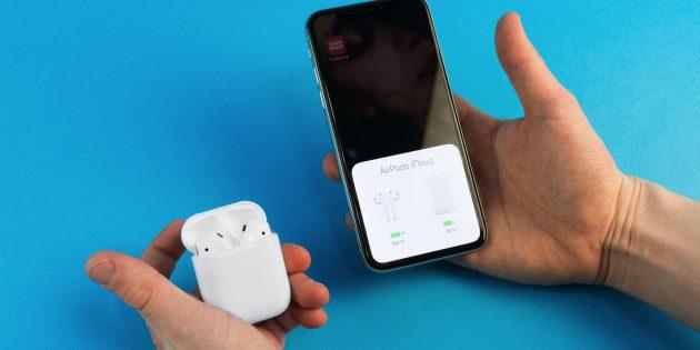 AirPods: работа с iPhone