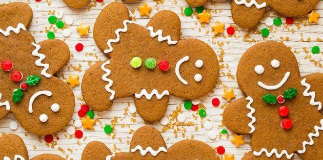 Новогоднее печенье «Имбирные человечки»