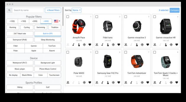 Fitness Tracker Database фильтры