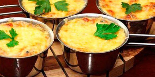 Рецепты жульена с креветками