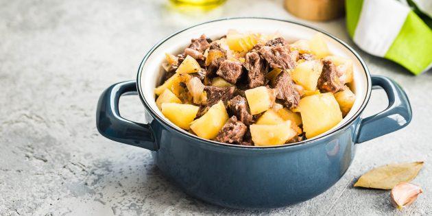 Рецепты мяса в духовке: Жаркое из баранины в горшочках