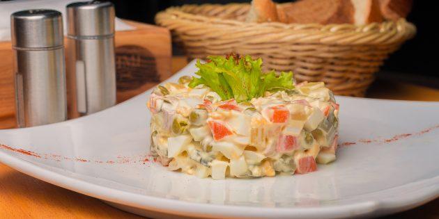Вегетарианский оливье: простой рецепт