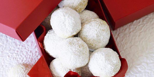 Новогоднее печенье «Снежки»
