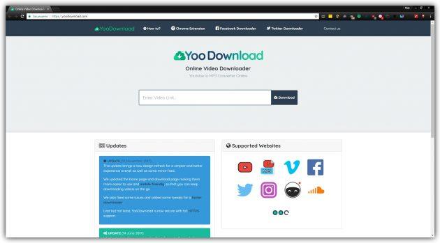Как скачать видео без программ: YooDownload