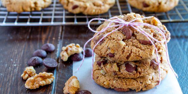 Лучшие рецепты блюд: печенье с шоколадом, кокосом, орехами и не только