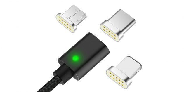 Магнитный зарядный кабель