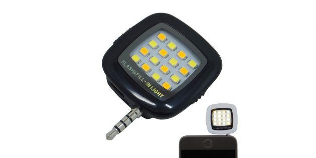 Светодиодный фонарик для селфи