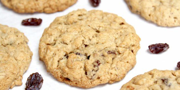Рецепты вкусного печенья: Печенье с изюмом и овсянкой