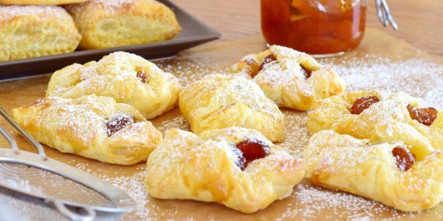 Рецепты вкусного печенья: Слоёное печенье с вареньем