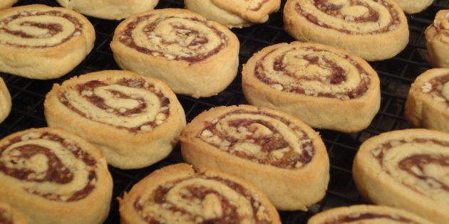 Рецепт печенья-рулетиков