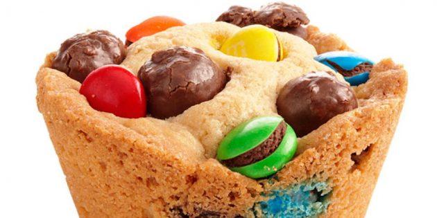 Рецепты вкусного печенья: Кексы с M&M's