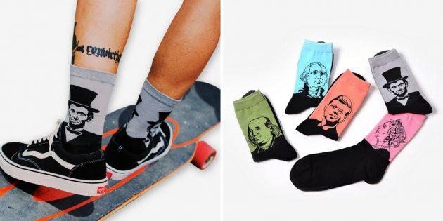 Хорошие подарки на 23 Февраля: Забавные носки