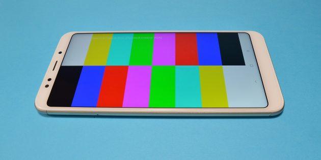Xiaomi Redmi 5 Plus: цветопередача
