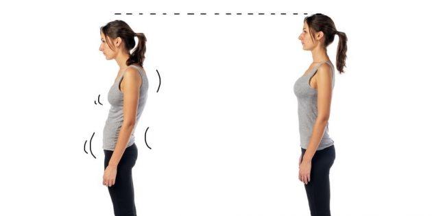 Как убрать живот без диет и спортзала: Выпрямитесь