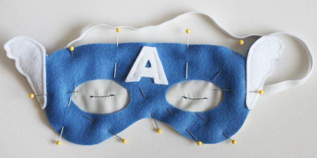 Как сделать подарки на 23 Февраля своими руками: Маска супергероя для сна