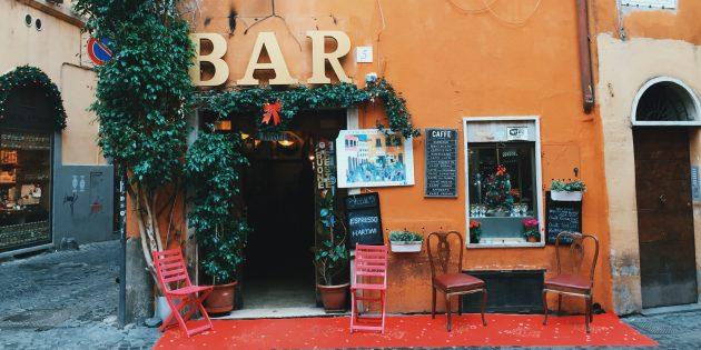 путешествие по Италии: кафе