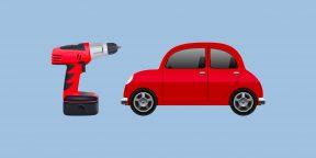 Как прикурить машину от шуруповёрта